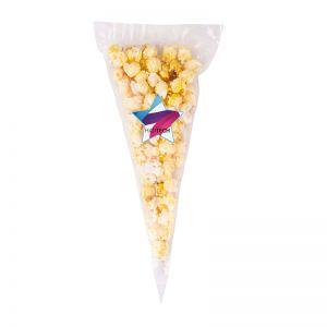 35 g süßes Popcorn in der Tüte mit Werbe-Etikett