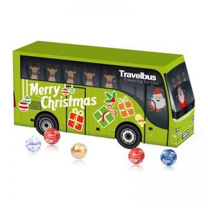 3D Adventskalender Bus mit Werbedruck