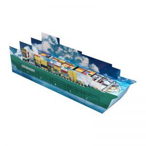 3D Adventskalender Containerschiff individuell bedruckt