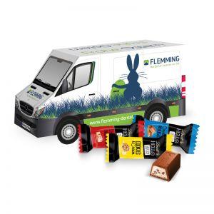 3D Oster Transporter Lindt HELLO Mini Sticks mit Werbebedruckung