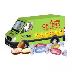 3D Oster Transporter Lindt Joghurt-Eier mit Werbebedruckung