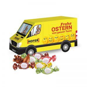 3D Oster Transporter Lindt Macarons mit Werbebedruckung