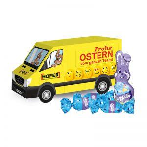 3D Oster Transporter Milka mit Werbebedruckung