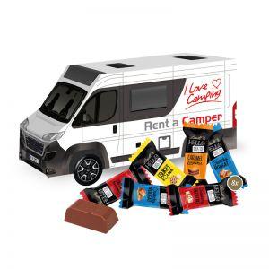 3D Präsent Camper Lindt HELLO Mini Stick Mix mit Werbedruck