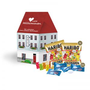 3D Präsent Haus Süßer Sommer-Mix mit Werbedruck