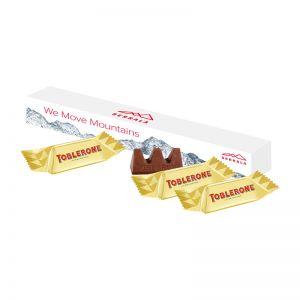 3er TOBLERONE Mini in Werbekartonage mit Logodruck