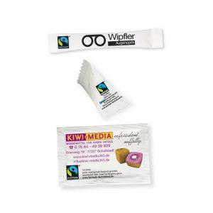4 g Bio Fairtrade Zucker mit Logodruck