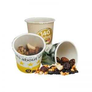 40 g Bio FruchtMix mit Cranberries im Werbebecher mit Werbedruck