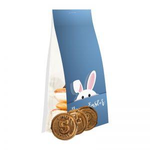 40 g Express Knuspertaler Bonbons im Standbeutel mit Werbereiter