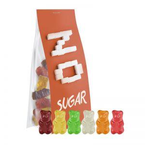 40 g Express zuckerfreie Gummibärchen im Standbeutel mit Werbereiter