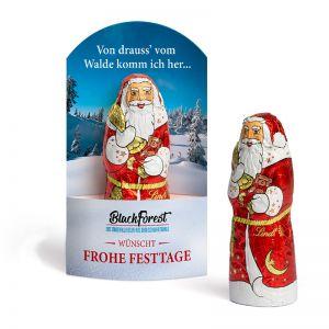 40 g Lindt Schoko Nikolaus in Taschenkartonage mit Werbedruck