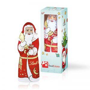 40 g Lindt Schokoladen Weihnachtsmann mit Werbedruck