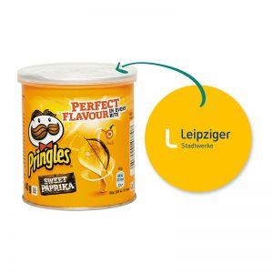 40 g Mini Pringles Sweet-Paprika mit Werbeflyer und Logodruck