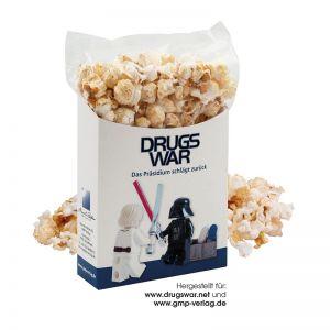 40 g salziges Popcorn to go in Box mit Werbedruck