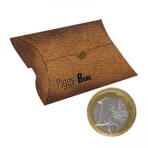 40 g Schoko-Euro-Münzen in Kissenbox mit Werbedruck