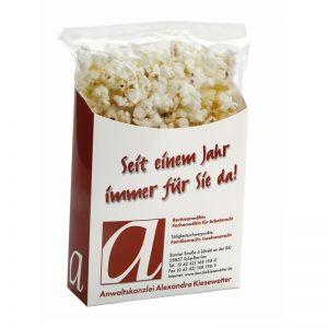 40 g süßes Popcorn to go in Box mit Werbedruck