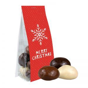 40 g Weihnachtscookies im Standbeutel mit Werbereiter