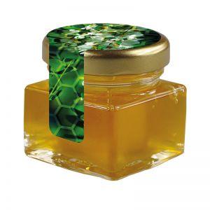40 ml Bio Akazienhonig im Glas mit Siegeletikett und Logodruck