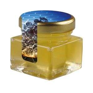 40 ml Bio Lindenhonig im Glas mit Siegeletikett und Logodruck