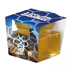 40 ml Bio Lindenhonig im Glas mit Werbeschuber und Logodruck