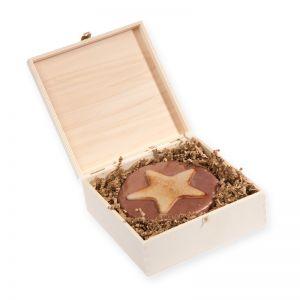 460 g Weihnachtstorte in edler bedruckbarer Holzbox