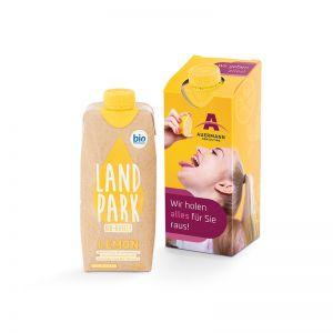 500 ml Landpark Bio Mineralwasser Lemon Tetrapack im Werbekarton