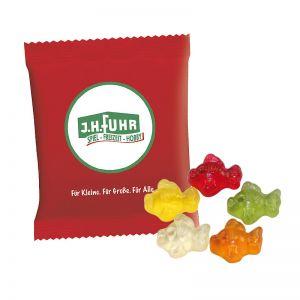 6,5 g HARIBO Mini-Fische Fruchtgummi im Werbetütchen mit Logodruck