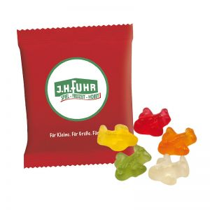 6,5 g HARIBO Mini-Flugzeuge Fruchtgummi im Werbetütchen mit Logodruck