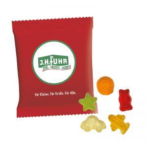 6,5 g HARIBO Mini-Fruchtmix Fruchtgummi im Werbetütchen mit Logodruck