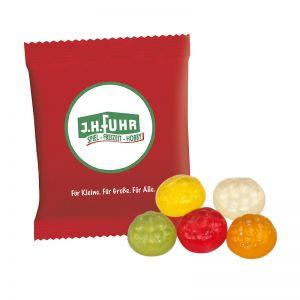 6,5 g HARIBO Mini-Fußbälle Fruchtgummi im Werbetütchen mit Logodruck