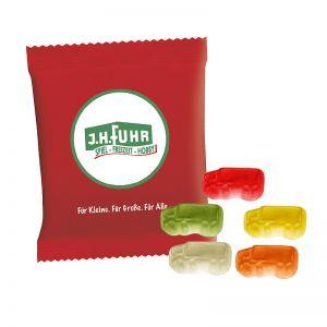 6,5 g HARIBO Mini-LKWs Fruchtgummi im Werbetütchen mit Logodruck