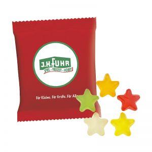 6,5 g HARIBO Mini-Sterne Fruchtgummi im Werbetütchen mit Logodruck