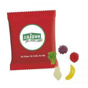 6,5 g HARIBO Mini-Tropi-Frutti Fruchtgummi im Werbetütchen mit Logodruck