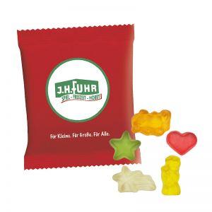 6,5 g HARIBO Mini-Weihnachtsmix Fruchtgummi im Werbetütchen mit Logodruck