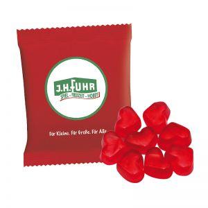 6,5 g HARIBO rote Mini-Herzen Fruchtgummi im Werbetütchen mit Logodruck