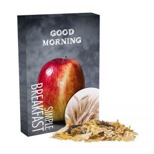 60 g Apfel Cranberry Müsli im Portionskarton mit Werbedruck