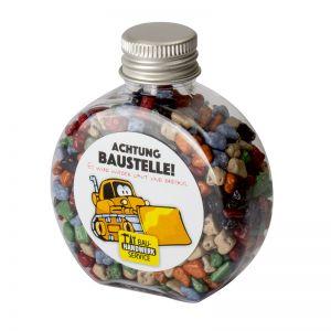 60 g Bunter Schoko-Splitt in Candy Bottle mit Werbeetikett