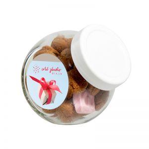 60 g Pfeffernüsse in Schräghalsglas mit Werbeetikett