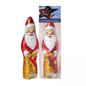 60 g Schoko Weihnachtsmann im Flachbeutel mit Werbereiter