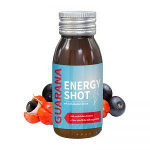 60 ml Energy-Shot Guarana in Glasfläschchen mit Werbeetikett