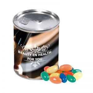 65 g Jelly-Beans in einer Dose mit Werbe-Banderole