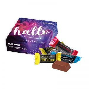 6er HELLO Mini Stick Mix in Werbekartonage mit Logodruck