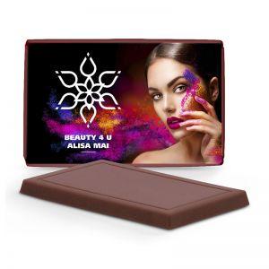 7,5 g zuckerreduziertes Schokoladen Täfelchen mit Logodruck