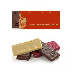 7 g Nashis zotter Schoko-Minis mit Logodruck