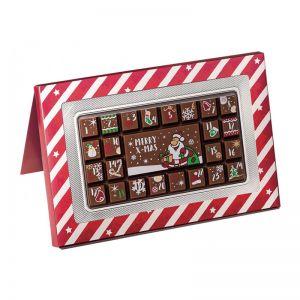 70 g Adventskalender Geschenkpackung mit Werbeanbringung