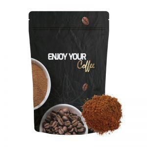 70 g Bio Kaffee gemahlen in Doypack mit rundum Werbedruck