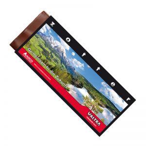 70 g handgeschöpfte zotter Schokoladentafel mit Logodruck