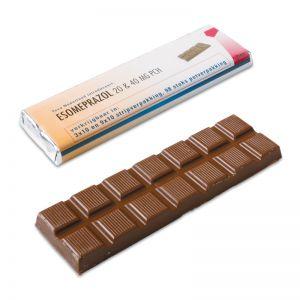 75 g Schokoladenriegel mit Banderole und Werbedruck