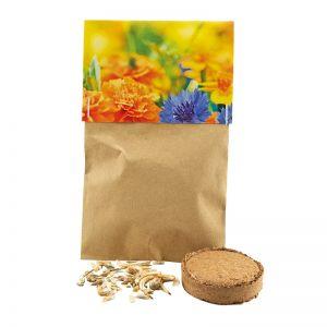8 g essbare Blüten Samen im Naturtütchen mit Werbereiter