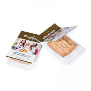 8 g Vanille-Butterkeks 1-farbig bedruckt mit Werbereiter